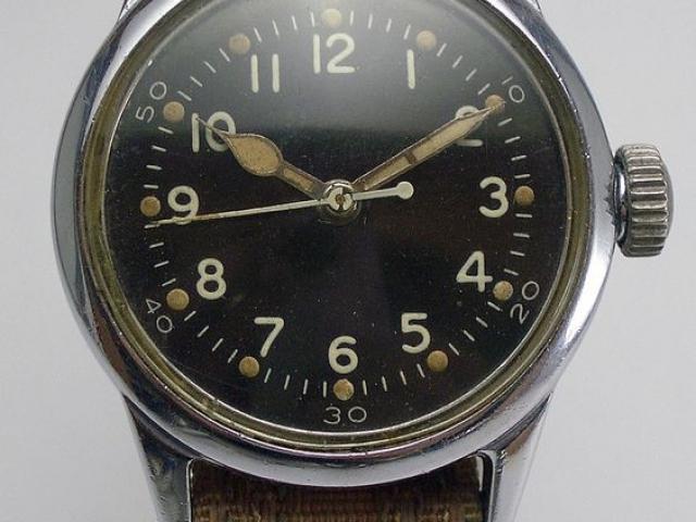 WWII Military Hamilton 2987 18J USMC Navy Aviators Hack Watch