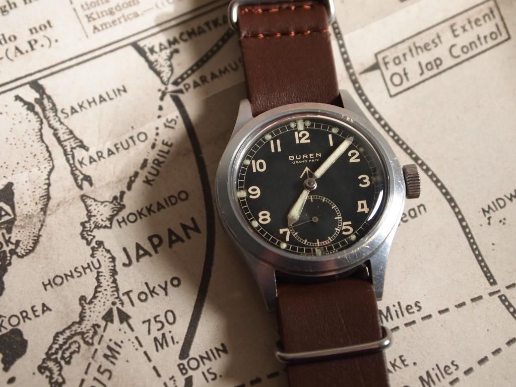 British WW2 W.W.W. Watch Produced by Buren