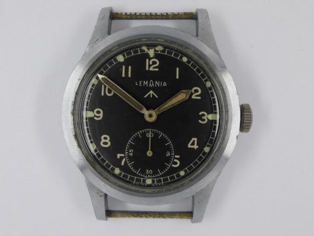 British WW2 W.W.W. Watch Produced by Lemania