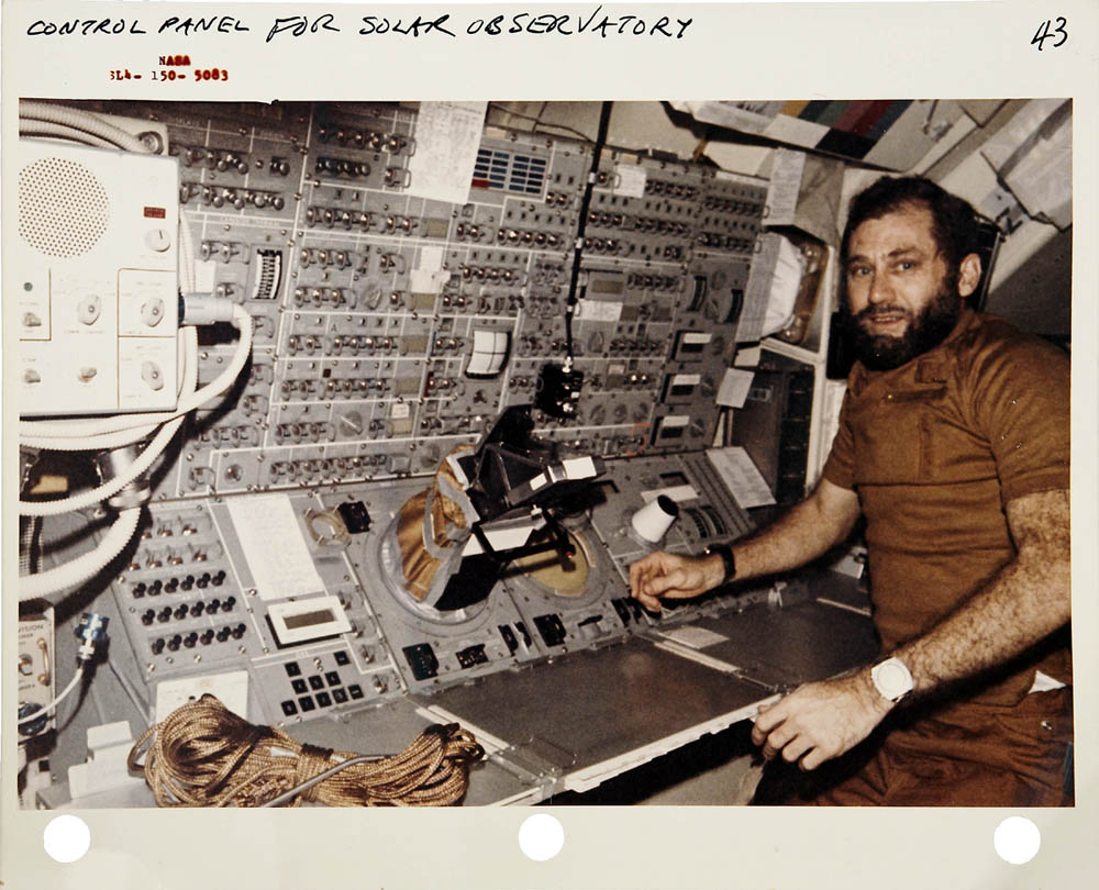 Colonel Pogue wearing the Seiko 6109 aboard the NASA Skylab